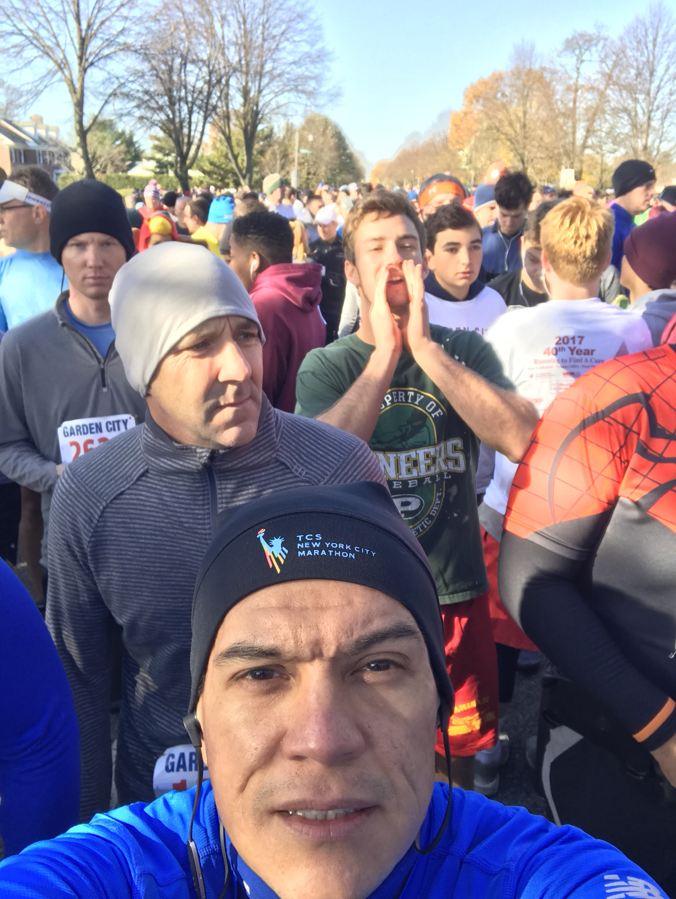 at the start line of the garden city turkey trot - Garden City Turkey Trot